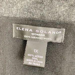 elena Solano Sweaters - Elena Solani Grey And Black Wool Cardigan D1254